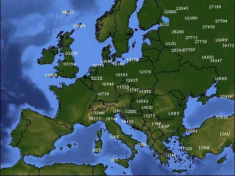 Mappa dei radio sondaggi